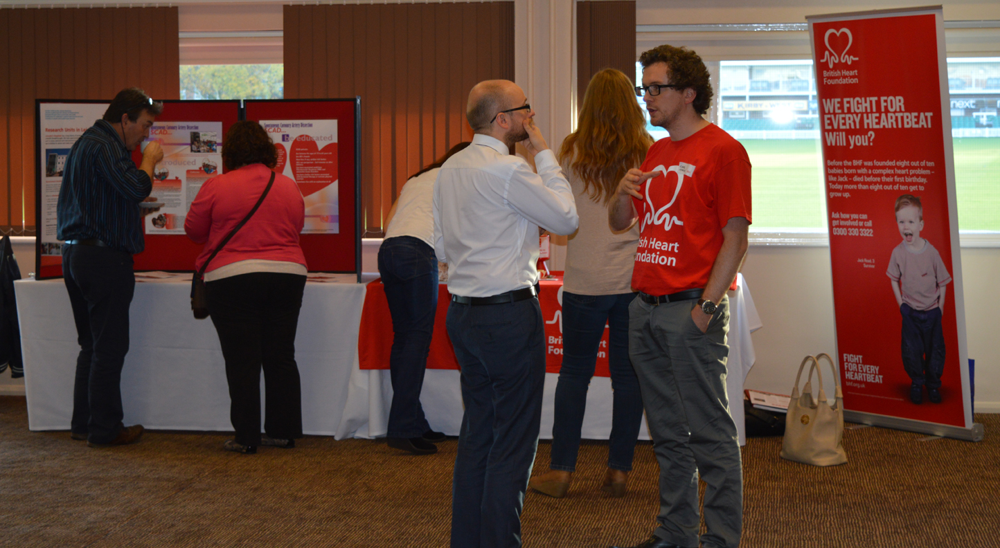 Representatives from the British Heart Foundation, which provides funding for the Leicester Biomedical Research Unit's research into SCAD, attended the event