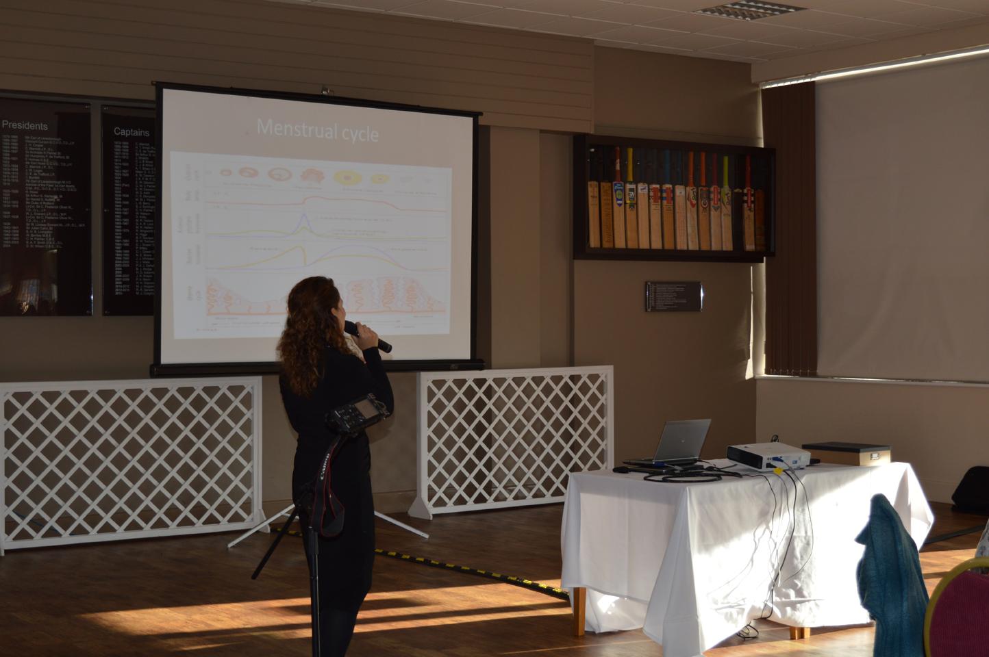 Dr Abtehale Al-Hussaini updates delegates on the research