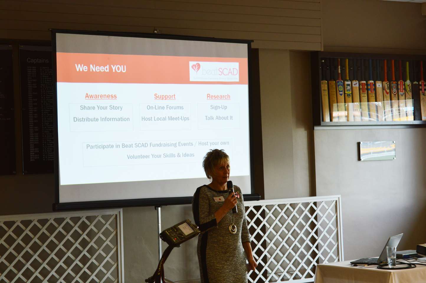 Karen Rockell explains how patients, family and friends can help achieve Beat SCAD's aims