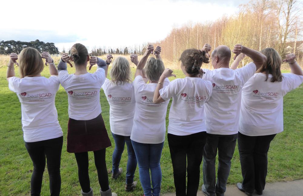 Beat SCAD trustees, survivors and friends raising awareness