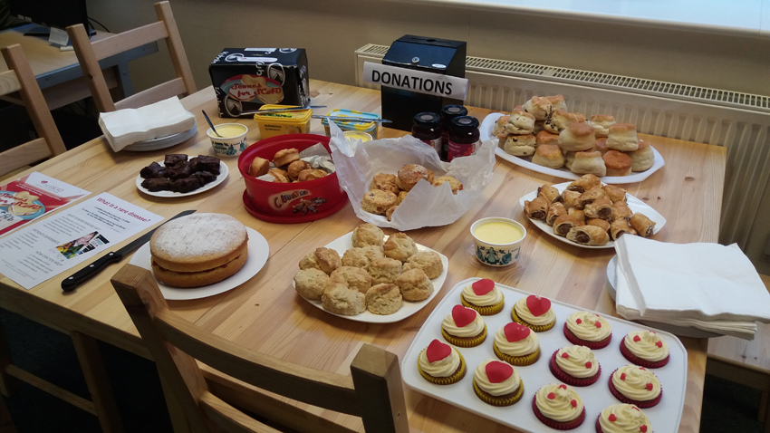 Baker Jacqui Hughes became an expert scone baker during preparations for her five events!