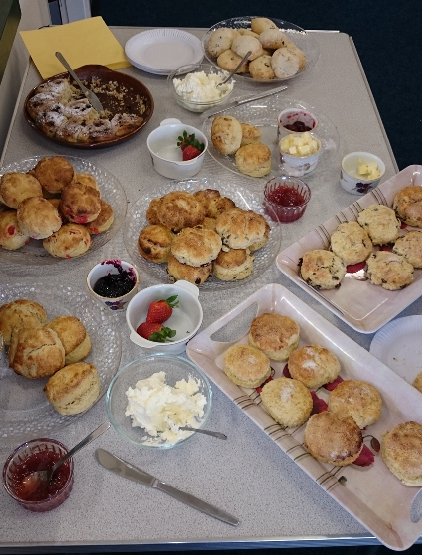 Tasty-looking scones at Jamys Carter's event