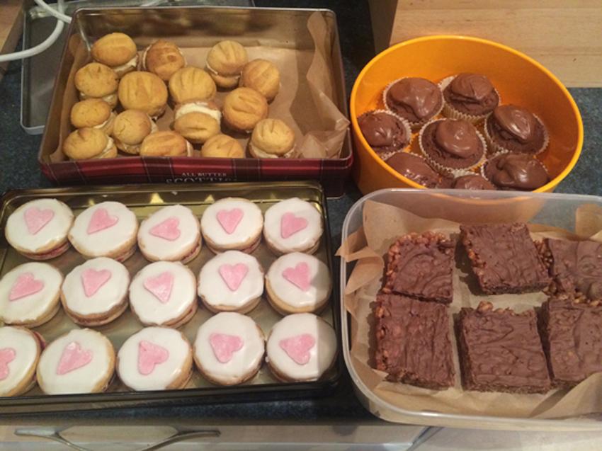 Karen Heenan's tasty scones and cakes
