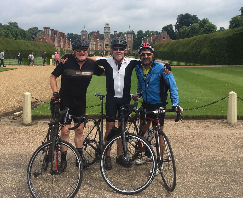 David Lamont London to Paris cycle ride