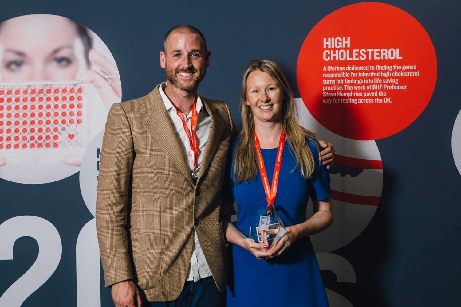 Rebecca Breslin wins the BHF Heart Heroes Innovation Award in the Midlands. Rebecca is pictured with her husband Liam.
