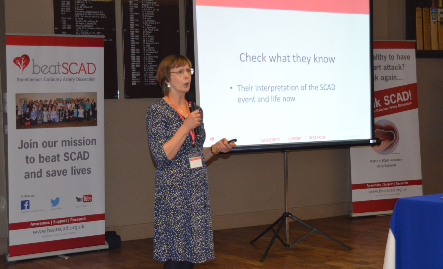 Catherine Beck talked about how to discuss SCAD with children