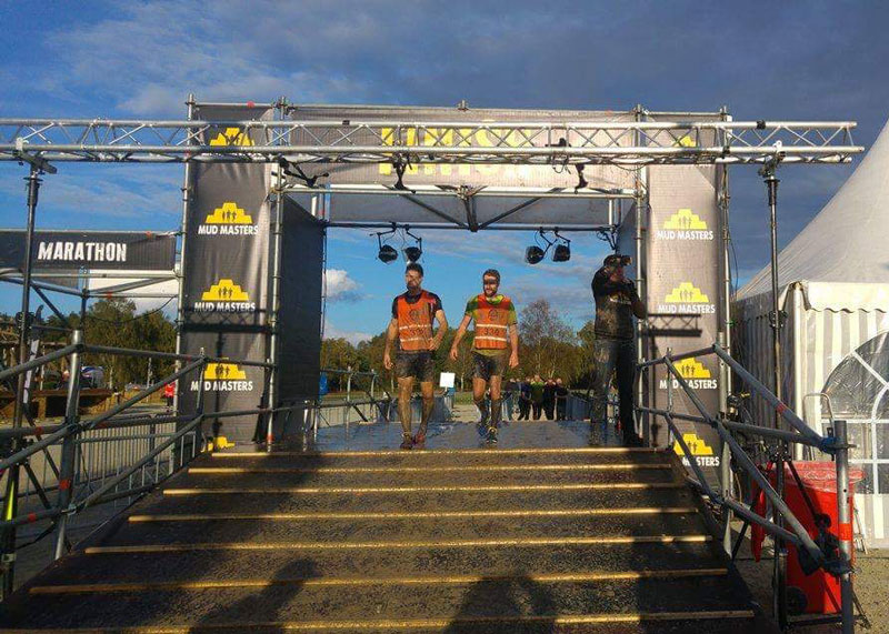 SCAD survivor's husband and friend tackle Mud Masters to raise money for Beat SCAD