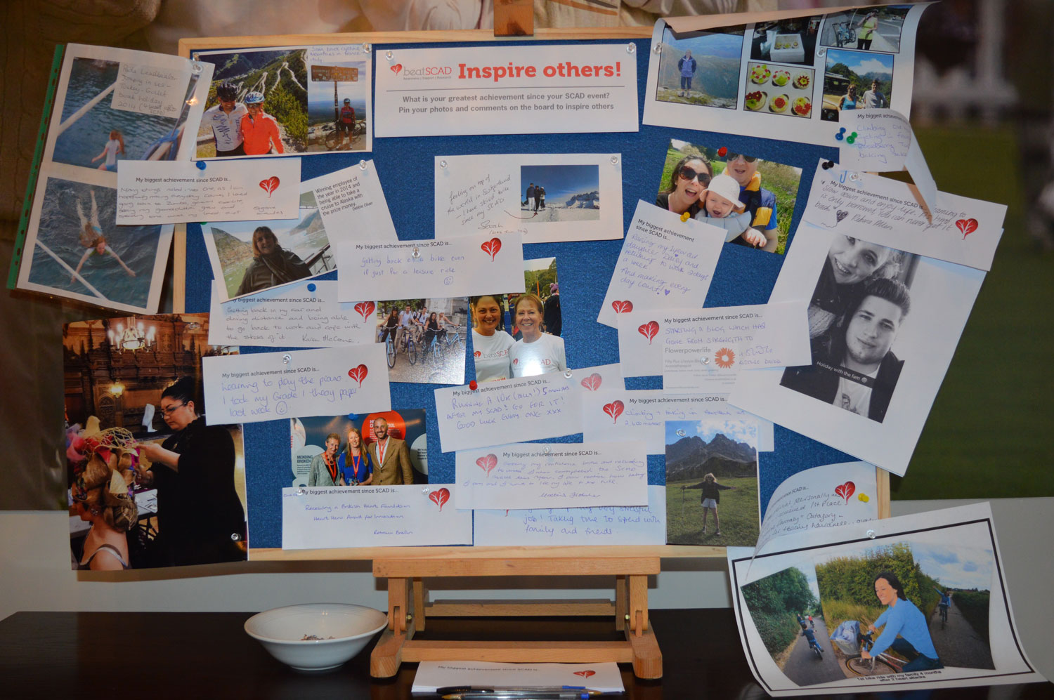 SCAD patients inspired others by posting their achievements on our Inspiration Board