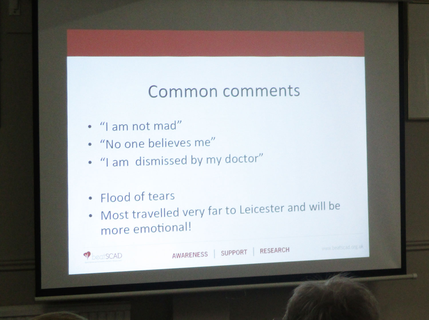 Dr Abi facilitates patients to tell their stories to someone who understands