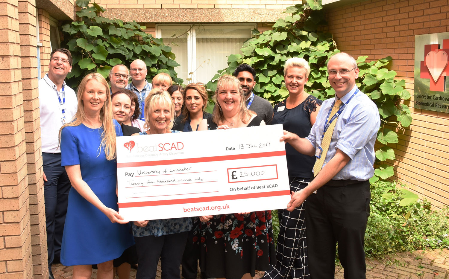 Beat presents £25K to Leicester SCAD research project