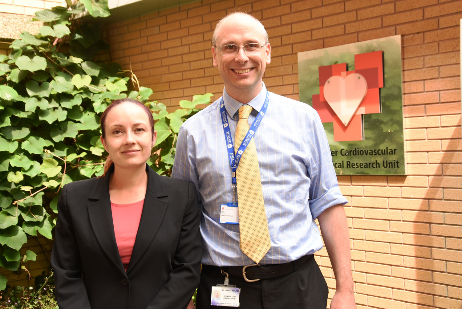 Dr Alice Wood and Dr David Adlam, Leicester University SCAD research project