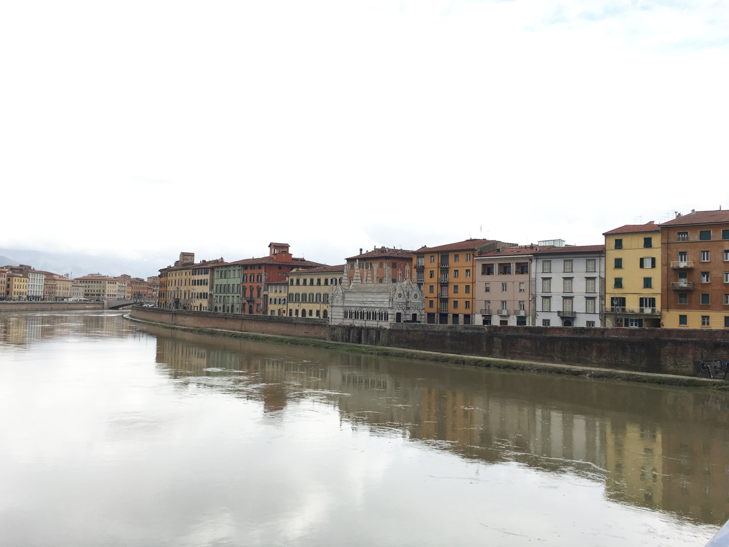 View along the Arno River, Pisa