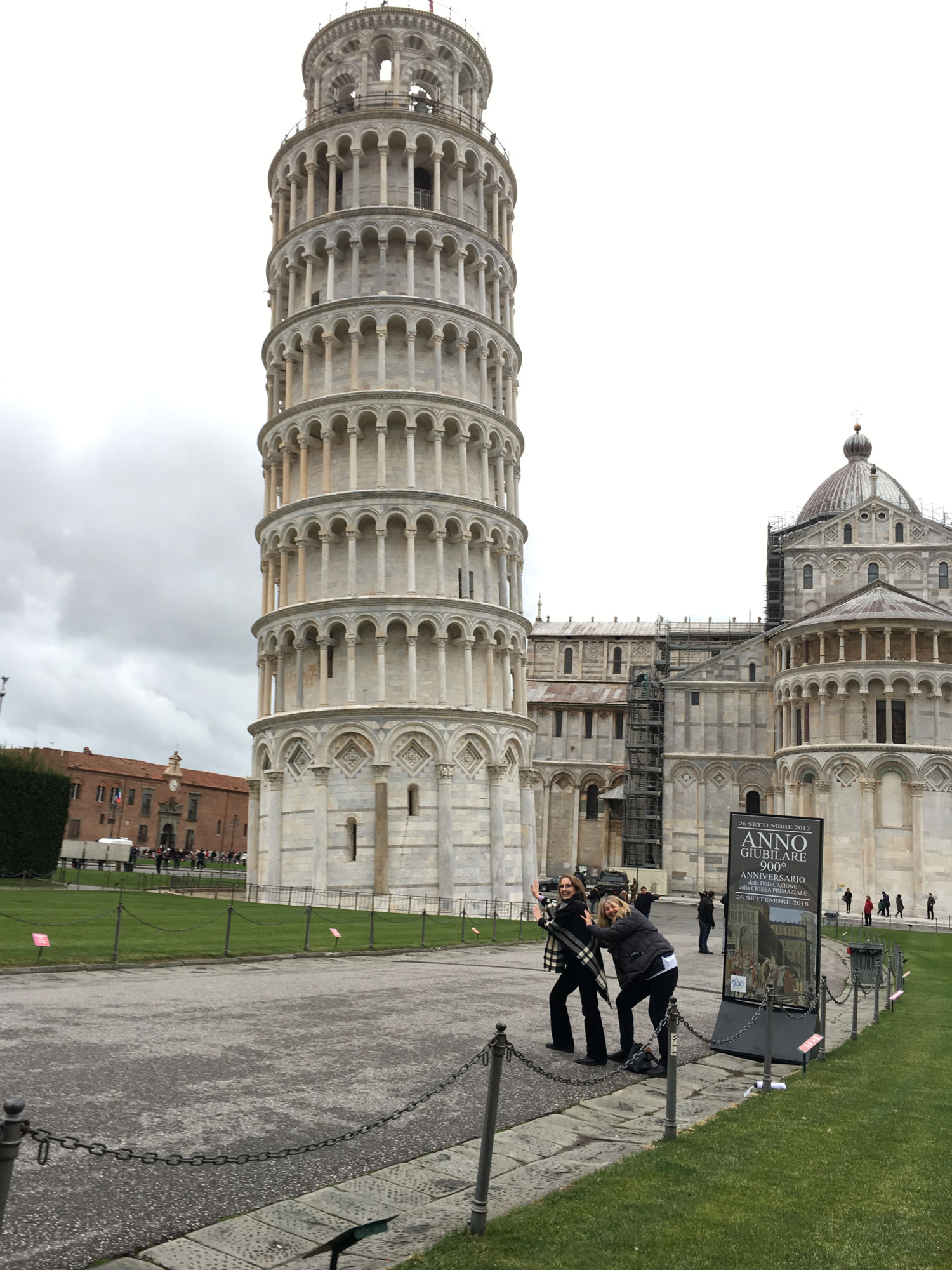 Holding up the Tower of Pisa!