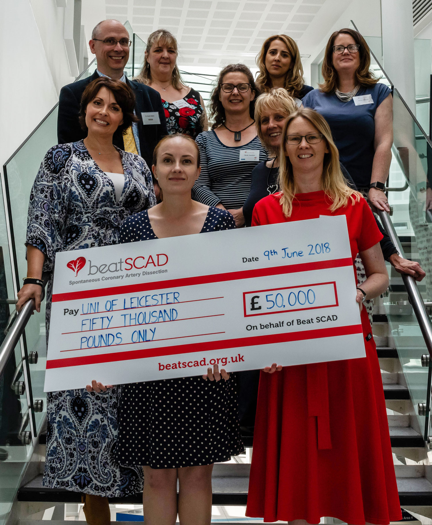 Beat SCAD Trustees and speakers with donation cheque