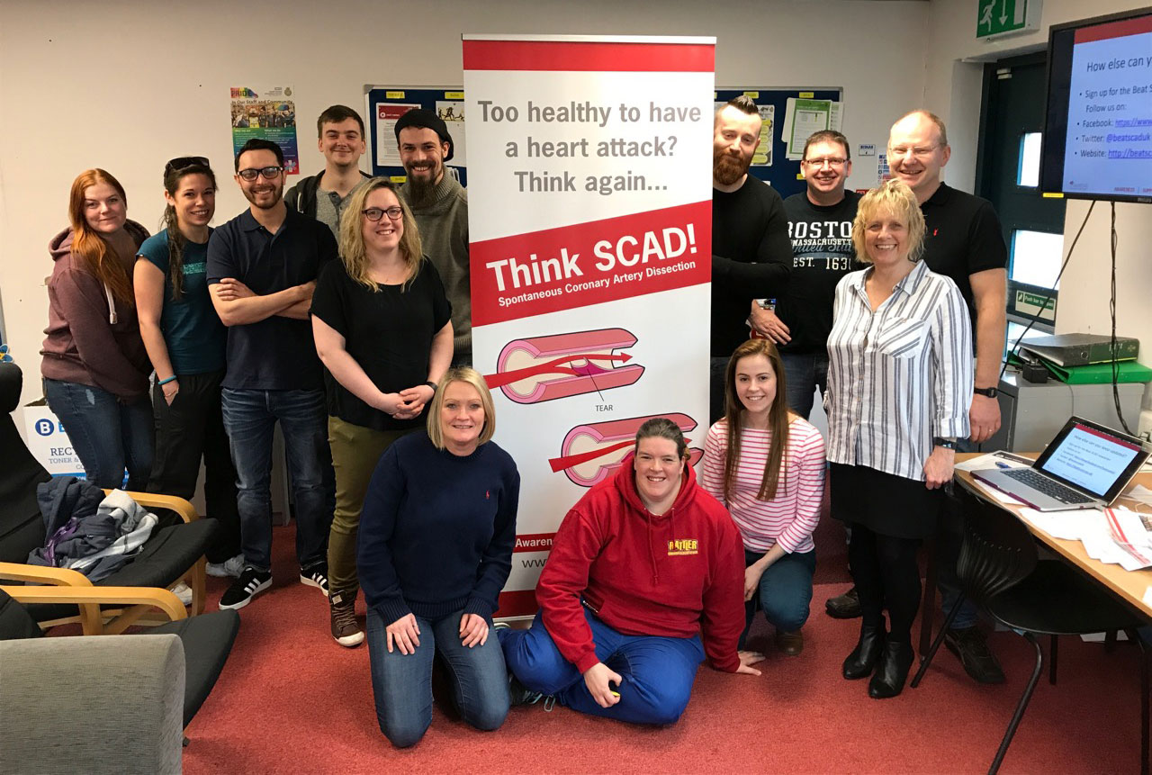 SCAD patients at Leicester photo exhibition
